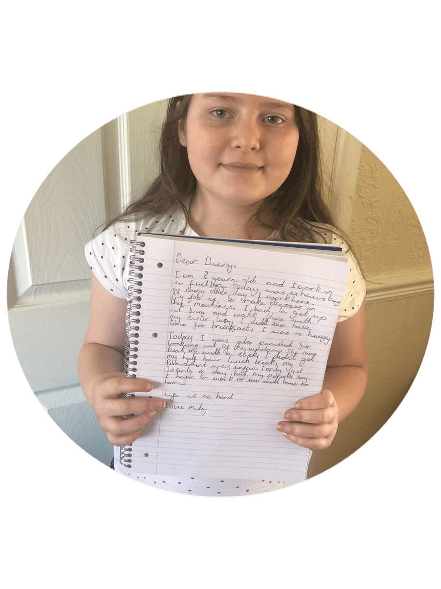 M has written a fantastic diary entry - well done!