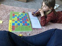 Evie working hard!