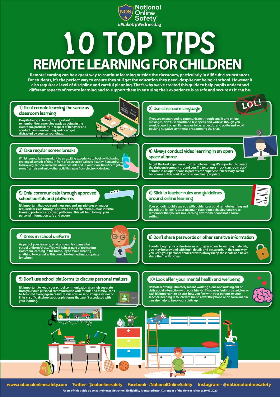 Remote Learning for Children