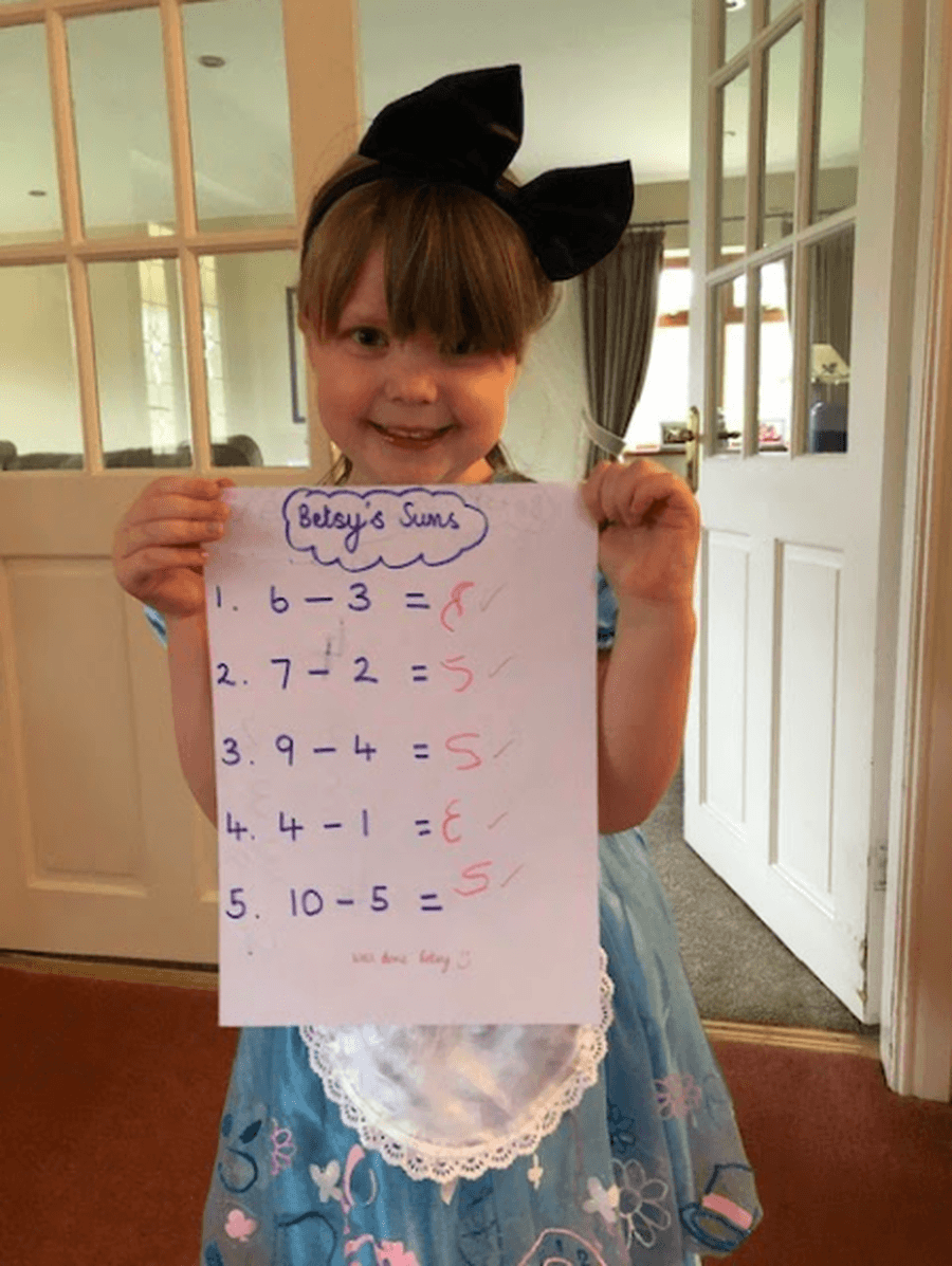 Great maths by Betsy!