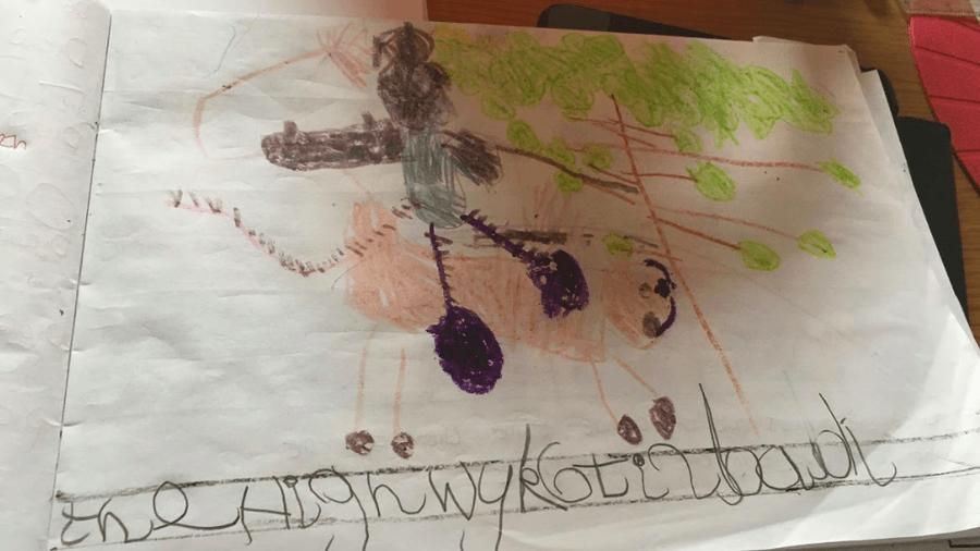 A wonderful drawing by Esme!