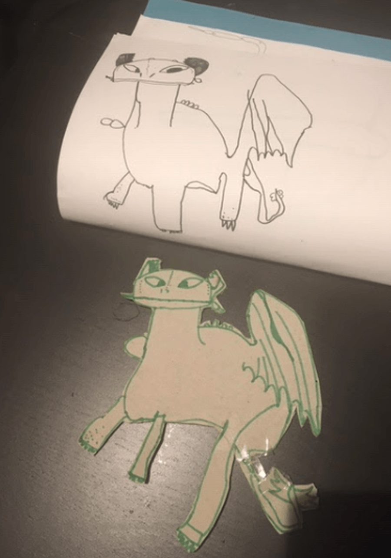 Fantastic dragon drawing by Ethan!