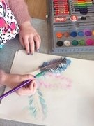 Feather art -