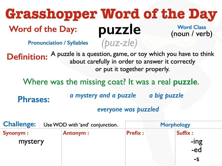 Y3/Y4 Word of the Day 23/04/20