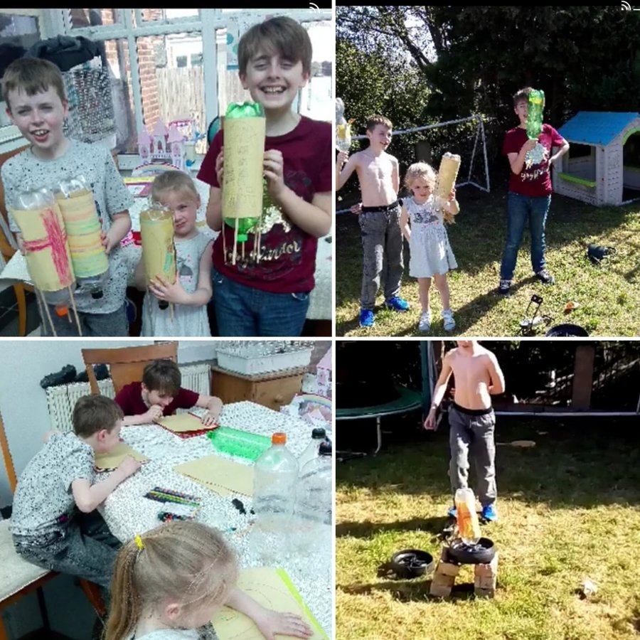 Raffi and his siblings have been carrying out a range of science experiments at home, which have included investigating pressure and force, by creating their own rockets and  testing whether hot or cold water molcules move the fastest.  Fantastic collaborative learning!