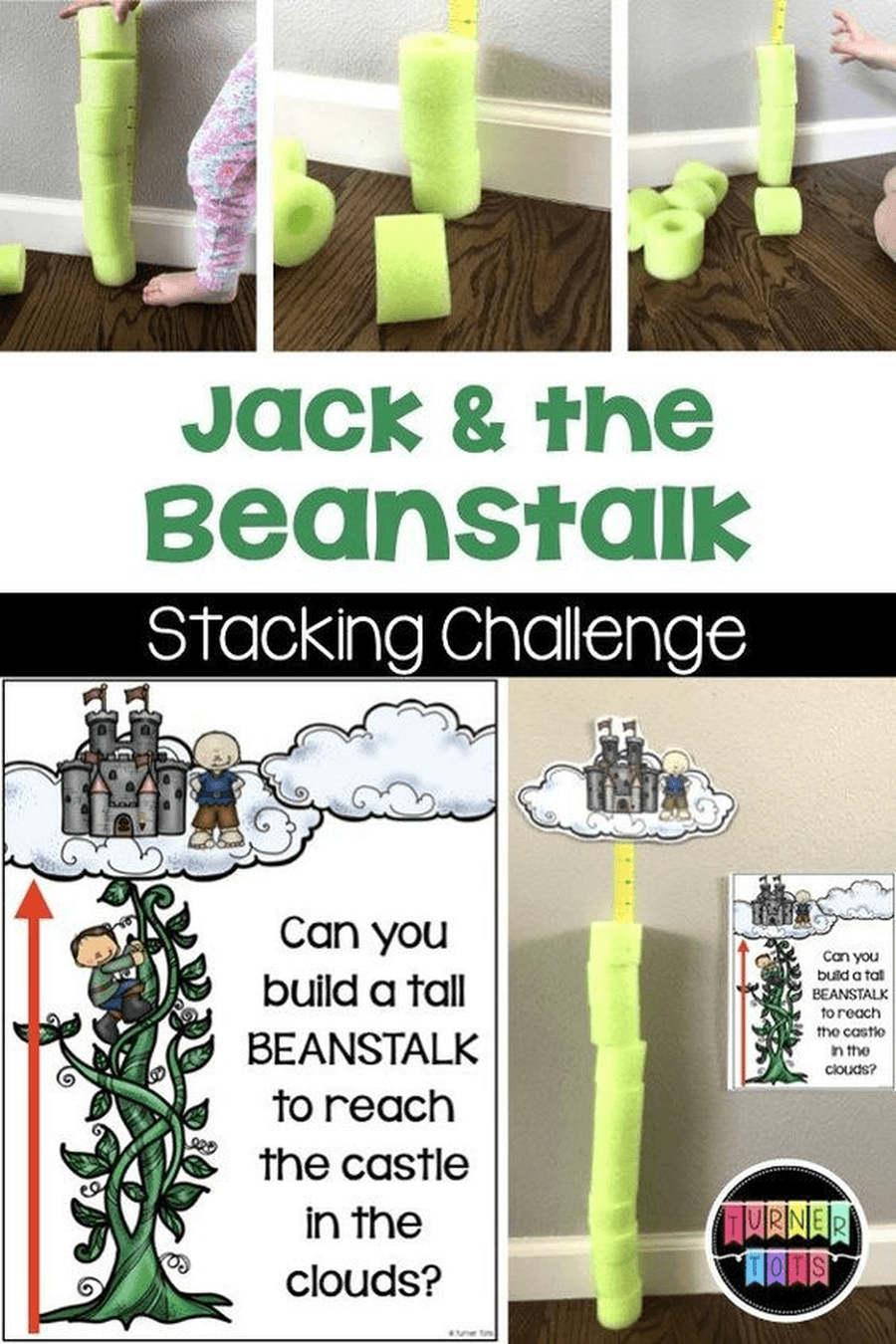 Can you build a beanstalk to reach the castle in the clouds? You could use anything in your home, boxes, cushions, Lego bricks or tins. How tall can you make it before it falls over? Are some things easier to build with than others? How can you make your stalk stronger?