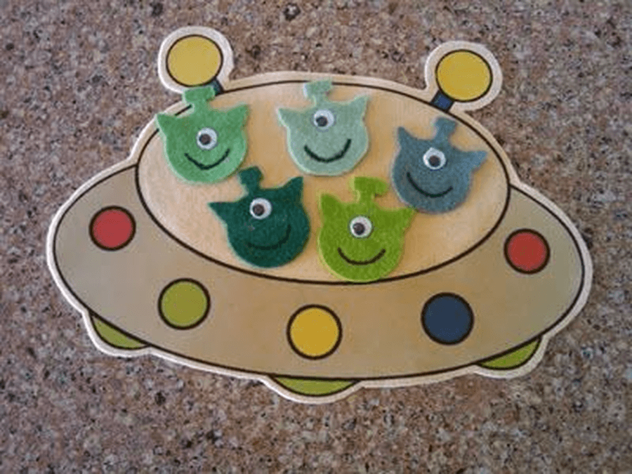 Make your own flying saucer and add the Little Men.