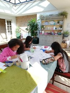 Olivia, Elizabeth and Jessica hard at work!