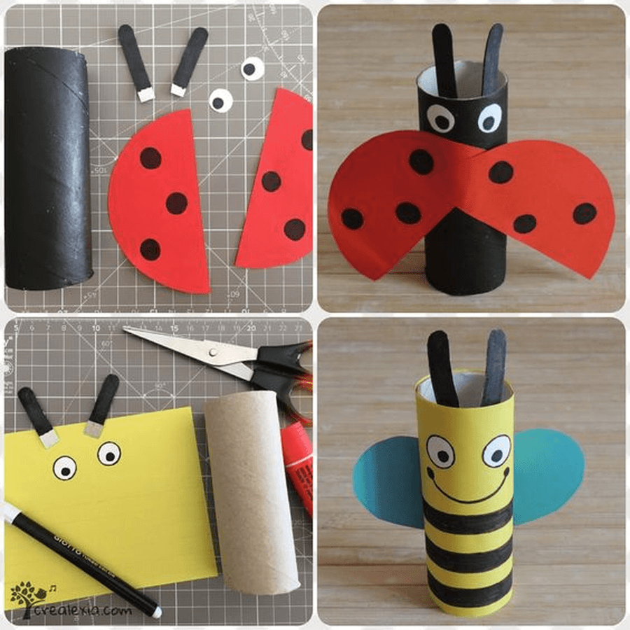 Make a ladybird using an a toilet or kitchen roll. What other mini beasts could you make?
