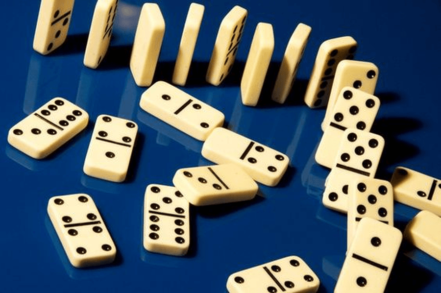 Play dominoes together and match the different number of spots. You can make your own dominoes by drawing and cutting them out of paper.