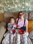 Corinne and her big sister enjoyed movie night with home made cinema tickets and snacks