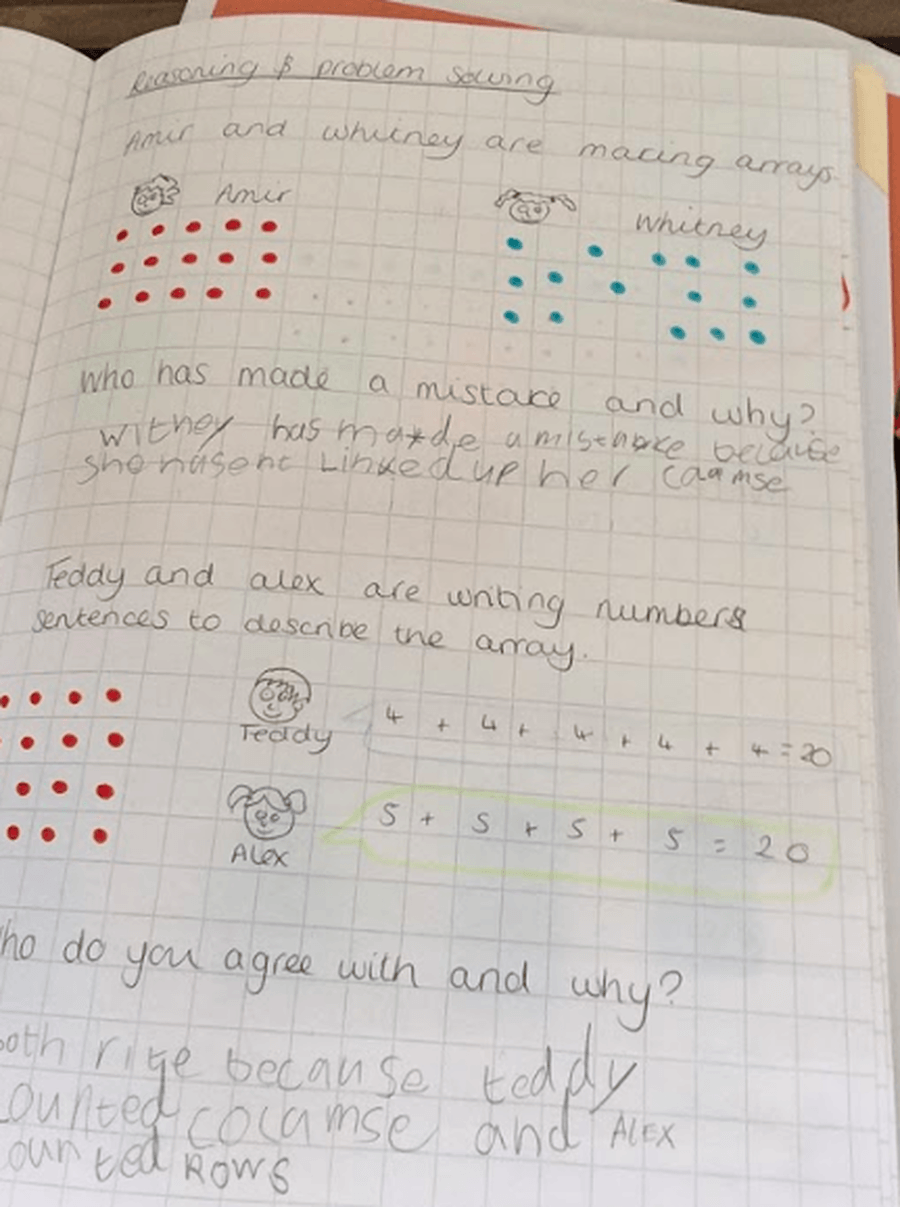 Excellent maths by Alice!