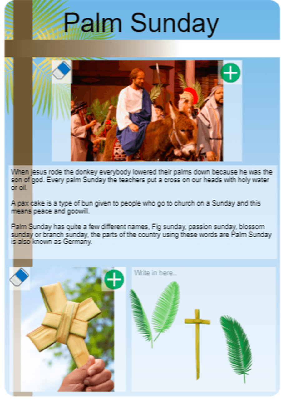 Lovely writing about Palm Sunday by Grace!