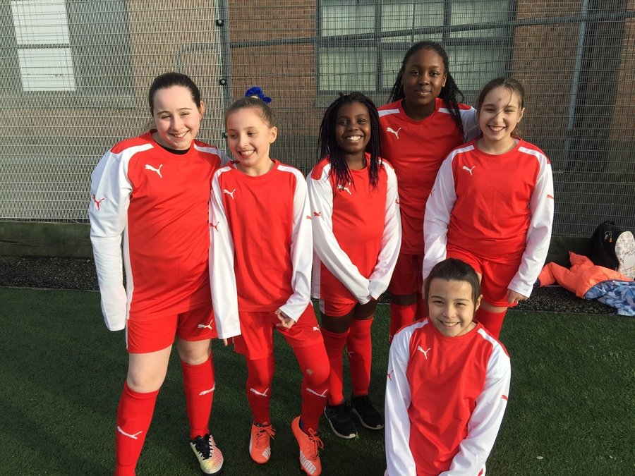 Girls football league  team
