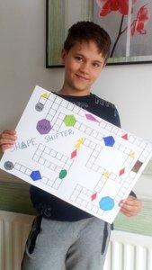 Adam made a shape game.
