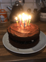 Toby made a chocolate cake to celebrate his Dad's birthday. It looks delicious!