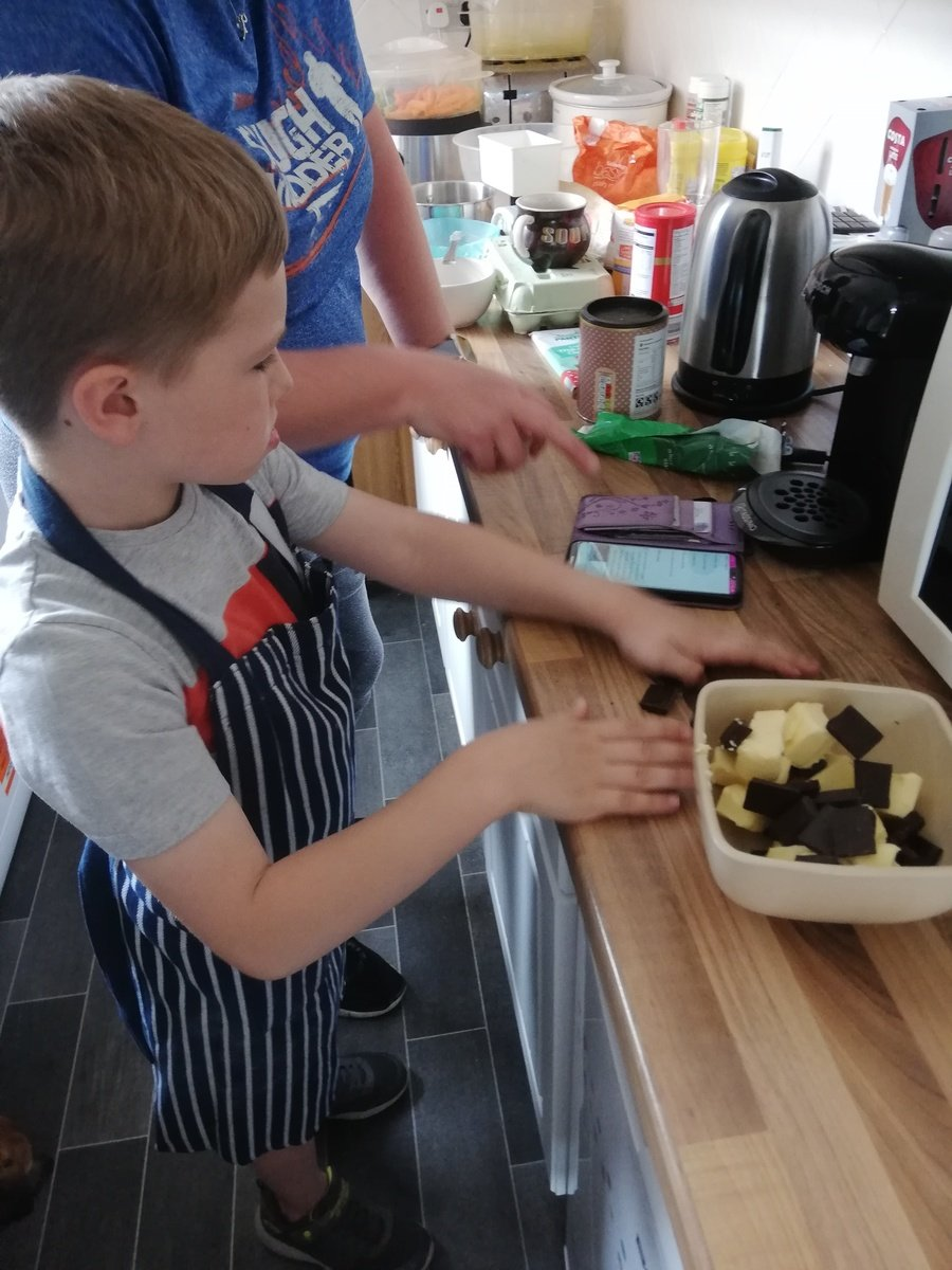 Thomas Y2 doing some baking