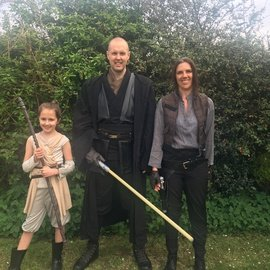 <br>One of our pupils who previously raised £140, for St John's Hospice, by doing a 3 mile sponsored walk dressed in a Star Wars costume!If you would like to donate to this cause, just click on the link below..
