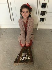 Izzy, Mya & Aimee created this lovely <br>rock painting with heartfelt messages