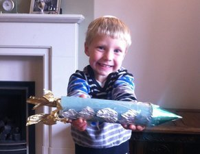 Marcus aged 4 has created this zooming rocket. <br>I bet he has lots of adventures with it... woosh!