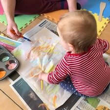 Messy Play and fun with paints<br>