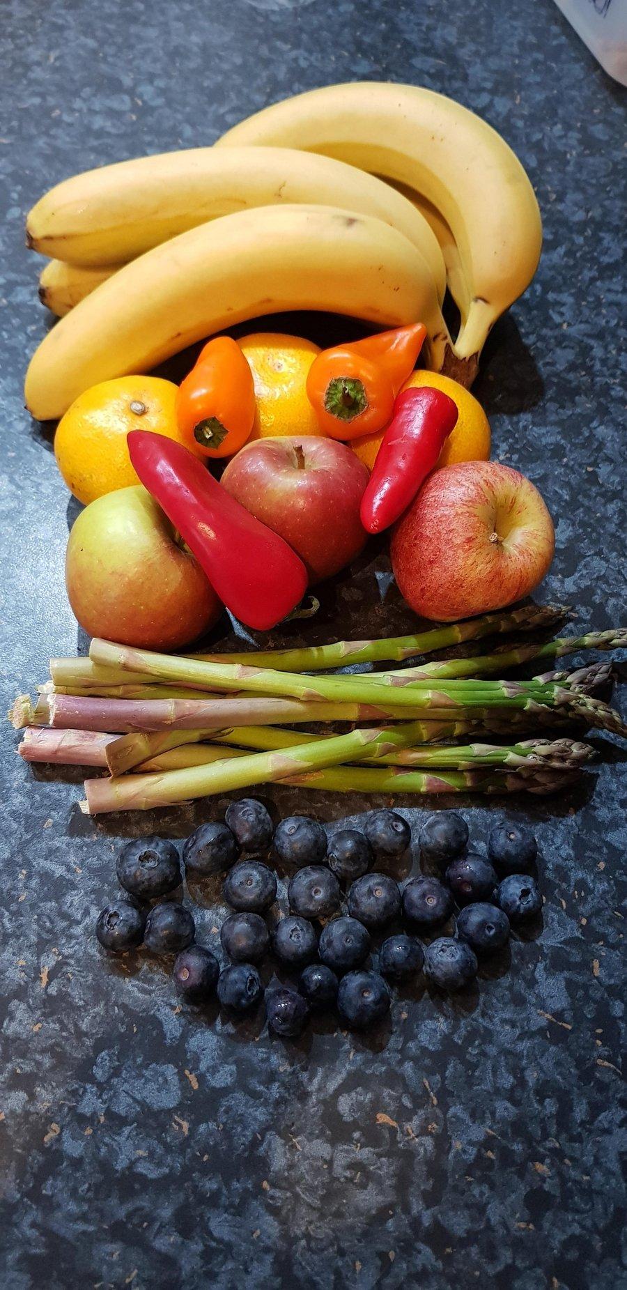 Mrs Rose's rainbow food