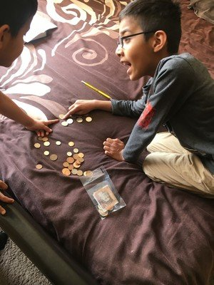 Kaif counting money for charity