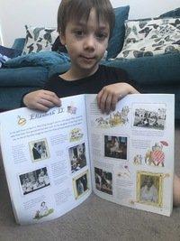 Leo's Queen Elizabeth sticker book