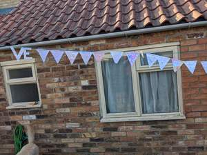 VE Day bunting made by Merryn, aged 8 years<br>