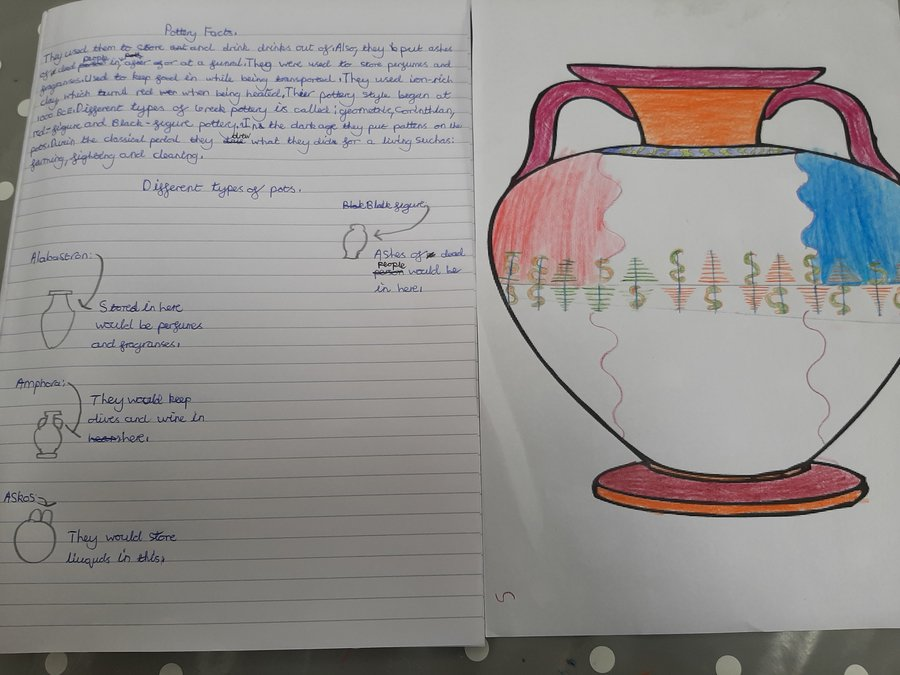 Some great work on Ancient Greek pottery by Harry.