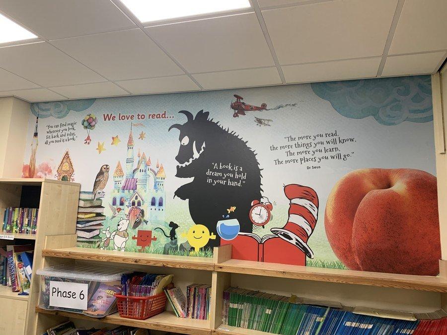 EYFS/KS1 inspired reading wall
