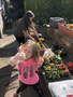 Jessica and her big sister have planted flowers in their garden