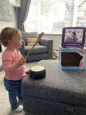 Bethany, aged 1, <br>enjoying Musical Mavericks