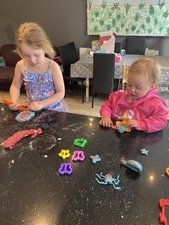 Play dough time! <br>Millie, aged 6 and Bethany, aged 1