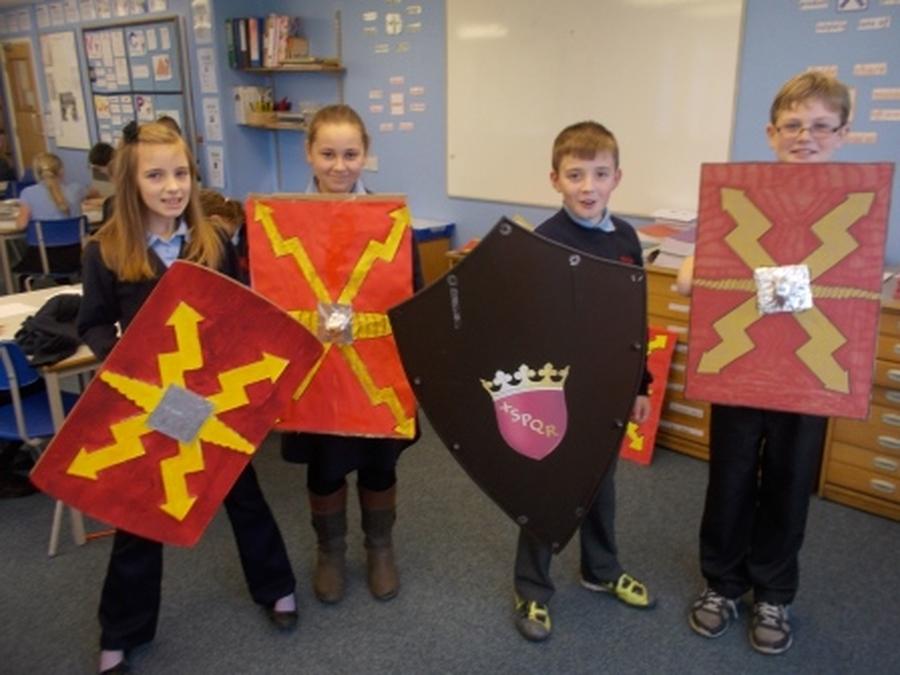 Roman shields!