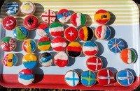 Mrs Garrad's flag cakes
