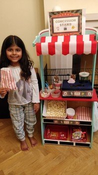 Rhea's movie night concession stand