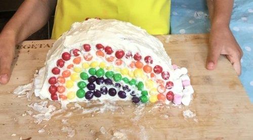 Scarlett's rainbow cake