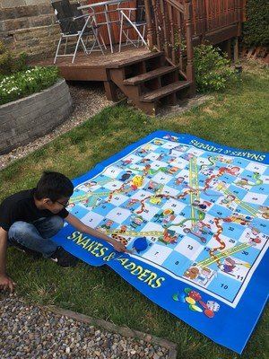 Kaif playing snakes and ladders