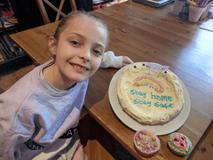 Lucie (Year 4) Stay home cake