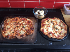 Mrs Worrall's pizza and dough balls