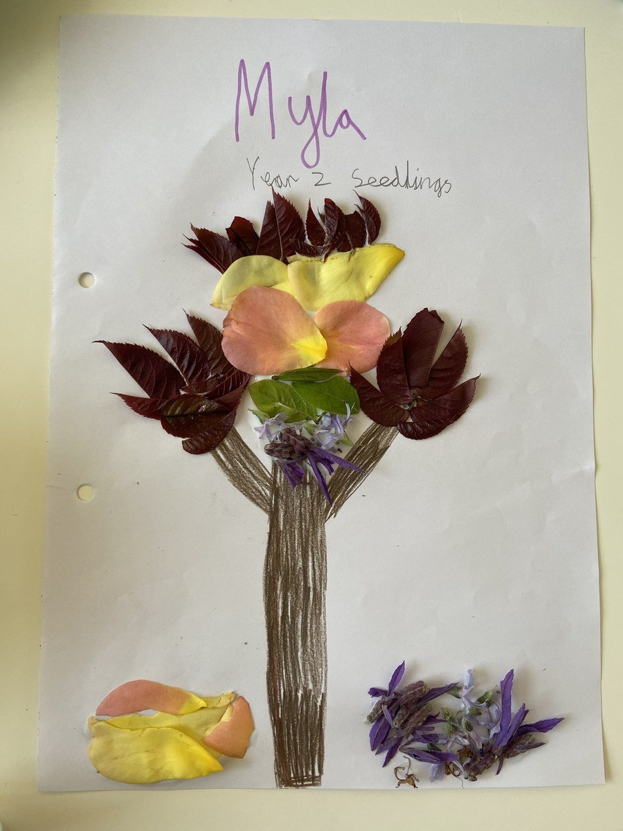 Myla Year 2 piece of art work inspired by Andy Goldsworthy