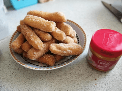 Lila (Year 4) and Neave (Year 3) Biscoff churros