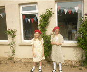 Annabelle & Claudia's VE Day outfits.