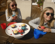 Delicious VE Day fairy cakes by Annie & Claudia
