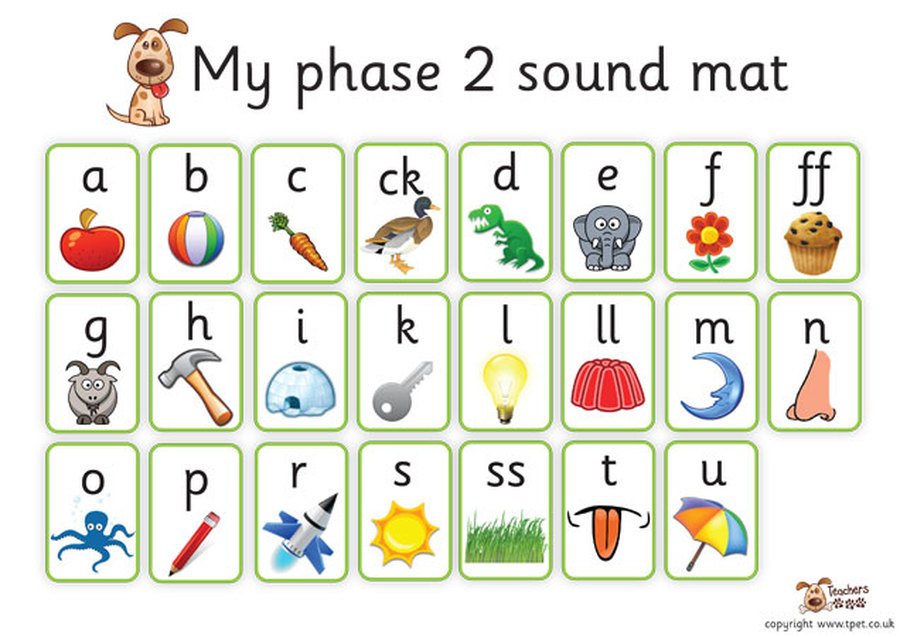 In Phase 2 Letters And Their Sounds Are Introduced One At A Time Set Of Is Taught Each Week