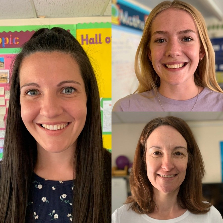 Miss Smith, Miss Brewster and Mrs Padley