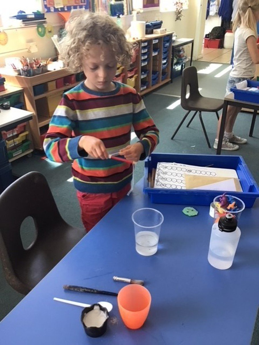 Making salt crystals in Acorn Class
