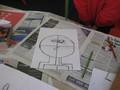 Pencil sketch leading to Paul Klee art
