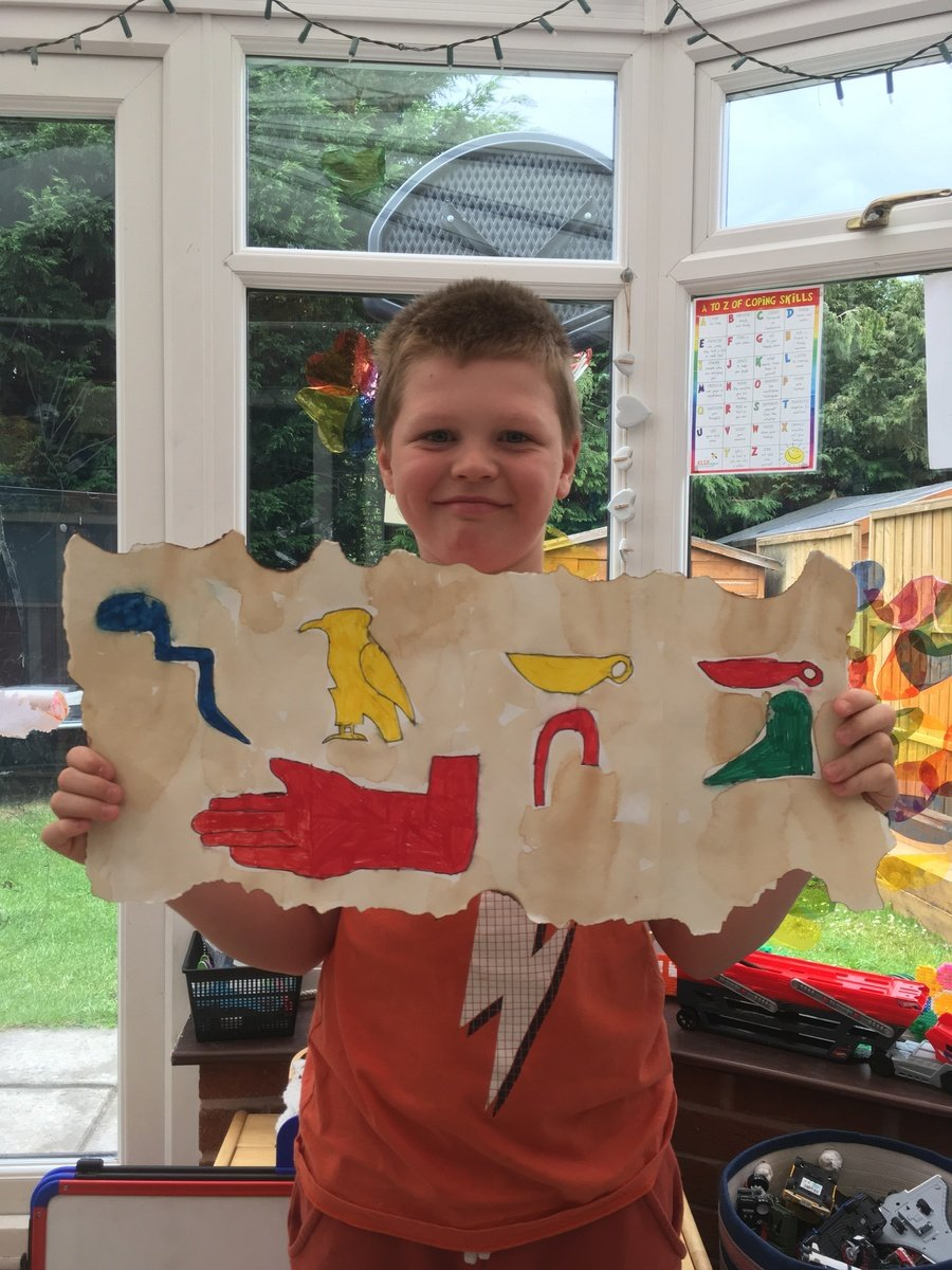 Jack A's (Year 4) name written in hieroglyphics